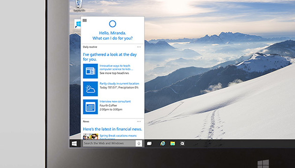 windows 10 cortana win10