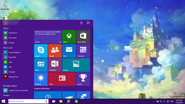 windows 10 start menu win10